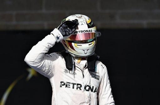 Lewis Hamilton fährt auf das Treppchen