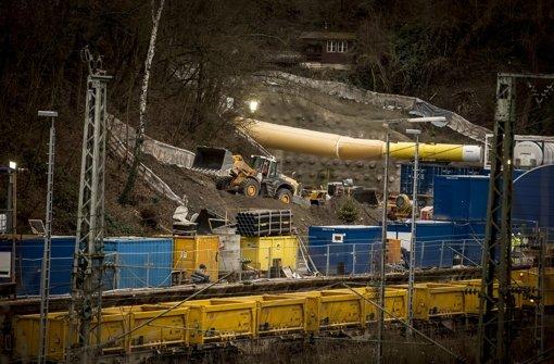 Die Arbeiten für das Großprojekt Stuttgart 21 sind, wie hier in der Nähe des Pragtunnels, im Gang Foto: Lichtgut/Leif Piechowski