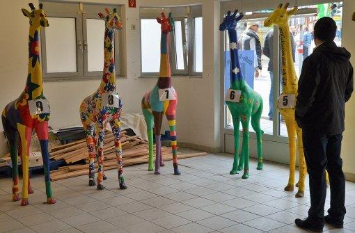 Eine Giraffe fürs Wohnzimmer