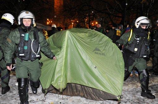 Am 15. Februar 2012 ließ die Stadt das Camp im Schlossgarten räumen. (Archivfoto) Foto: dpa