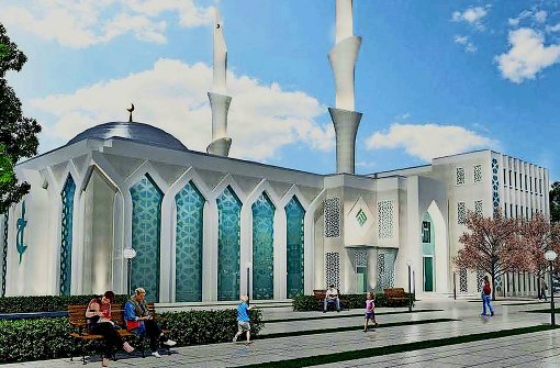Pläne für Moschee mit Minarett