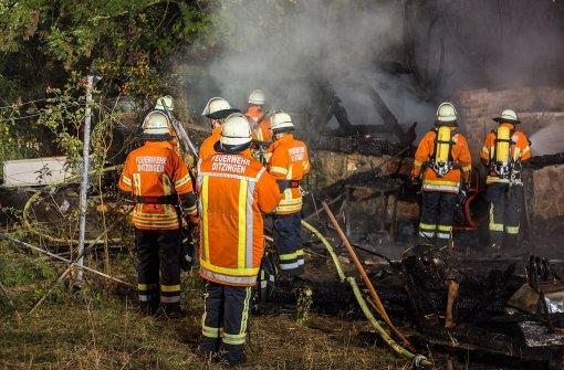 Gartenhütte brennt nieder