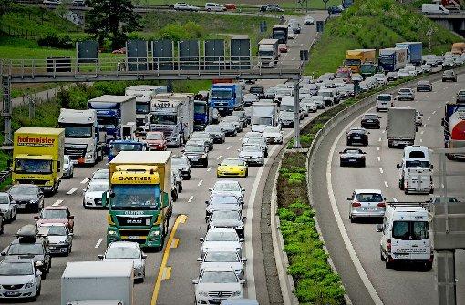 Tempobremse wegen maroder  Autobahnbrücke