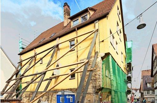 Älteste Häuserzeile in Südwestdeutschland einsturzgefährdet