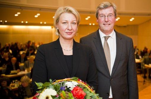 Regionaldirektorin Nicola Schelling, hier mit Regionalpräsident Thomas Bopp Foto: Max Kovalenko