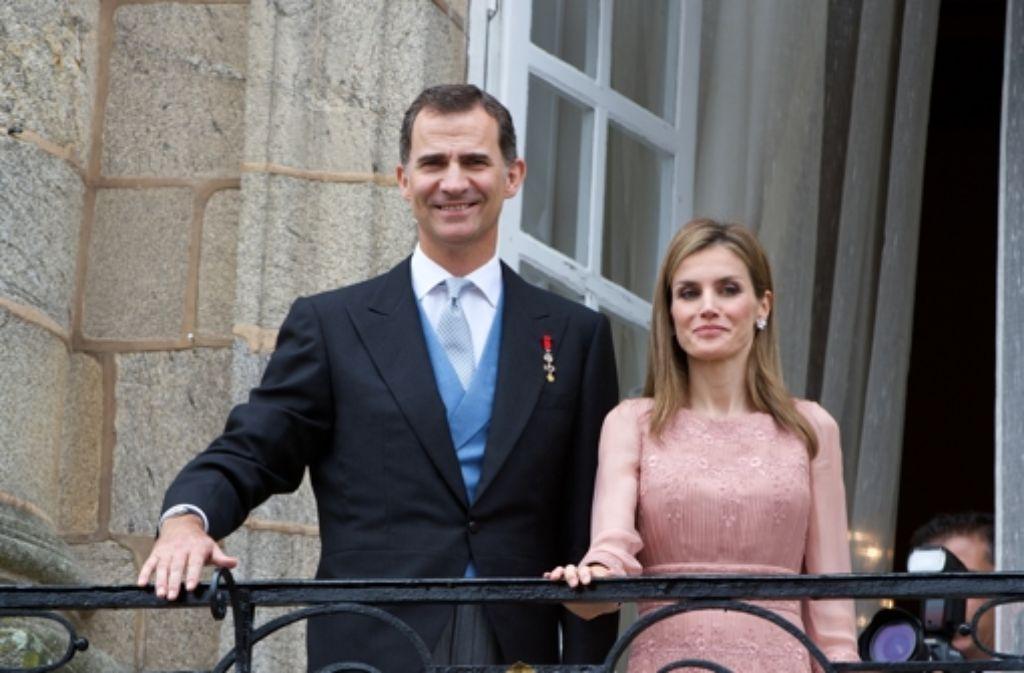 König Felipe Vi Von Spanien Und Seine Frau Königin Letizia In