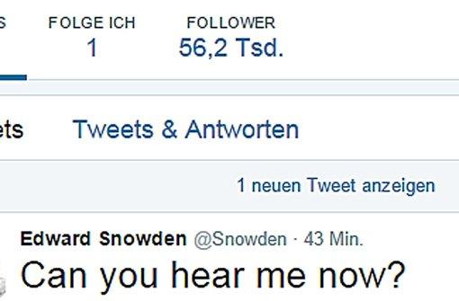 Edward Snowden twittert jetzt