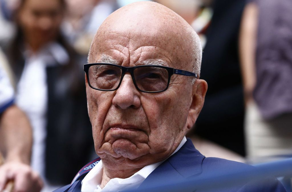 The media czar Rupert Murdoch: Behind his forehead always matures a strategy. Photo: dpa