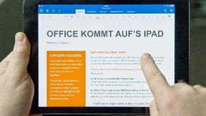 Office-Software kommt aufs iPad