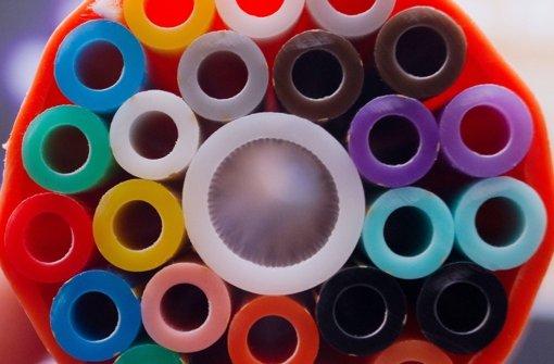 Rohrsystem für die Verlegung von Glasfaserkabeln Foto: dpa