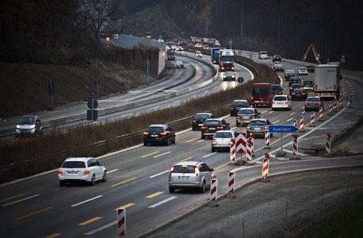 Platz 2: Rund 130 000 Fahrzeuge sind im Durchschnitt an jedem Werktag auf der A81 bei Sindelfingen unterwegs. . . Foto:  Leif Piechowski