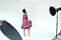 Das Model Mia Gray im Dirndl - hier ein paar Eindrücke vom Fotoshooting.br Foto: www.7aktuell.de