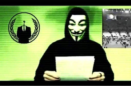 """Die Netzaktivisten des Hackerkollektivs Anonymous drohen dem Islamischen Staat in einem Youtube-Video mit """"massiven Cyberattacken"""""""