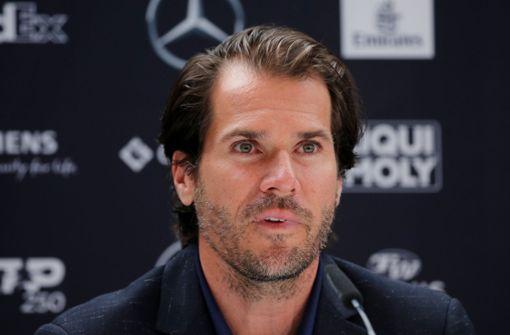 Als Fernsehexperte beobachtet Tommy Haas die Spiele beim Mercedes-Cup in Stuttgart. Foto: Pressefoto Baumann/Julia Rahn