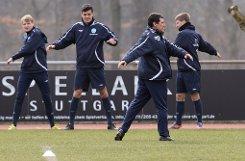 Das erste Training der Stuttgarter Kickers mit Massimo Morales. Foto: Pressefoto Baumann