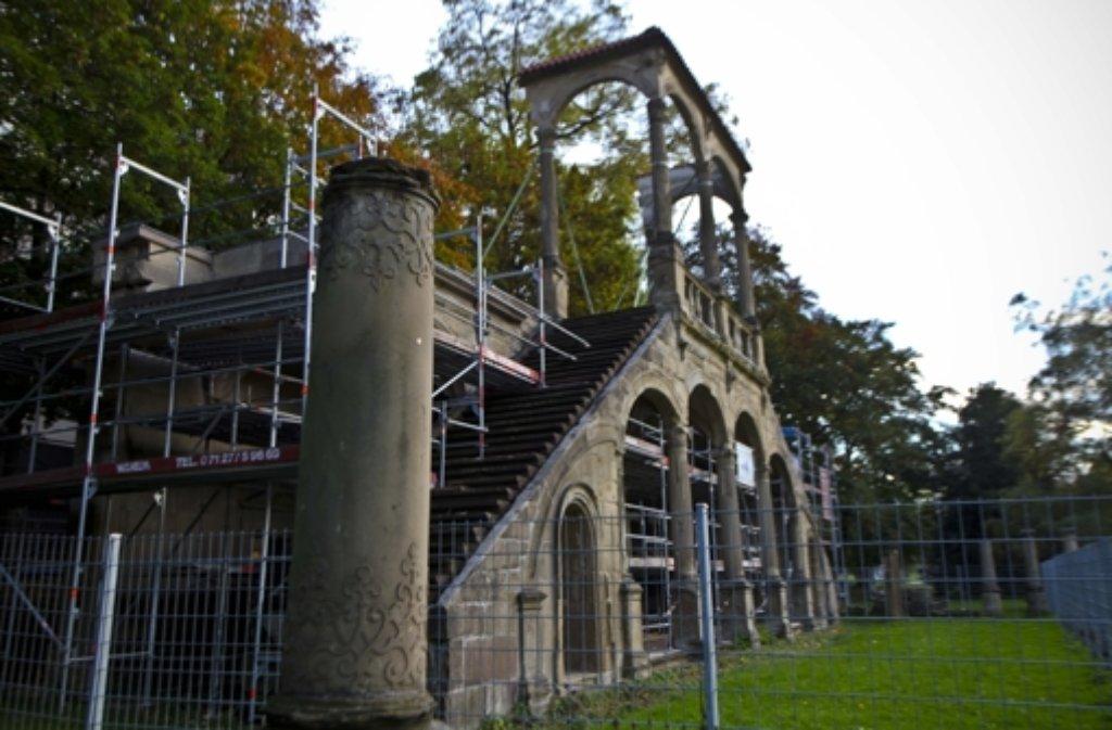 Noch bis Anfang November ist die Lusthaus-Ruine