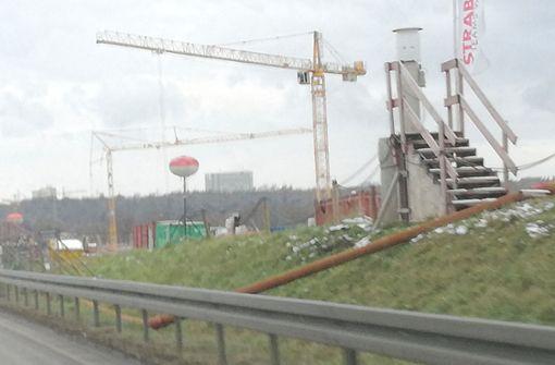 Baustelle A8 Stuttgart