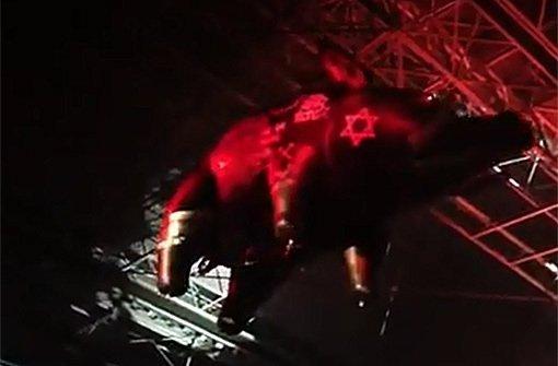 Auf dem Schwein prangt ein Davidstern - Roger Waters begegnet dem Antisemitismus-Vorwurf mit einem offenen Brief. Foto: Screenshot