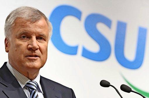 Der CSU-Parteivorsitzende und bayerische Ministerpräsident Horst Seehofer  Foto: dpa