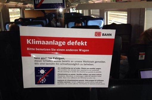 Defekte Klimaanlagen, kaputte Toiletten, baufällige Strecken: Die Bahn zieht eine traurige Bilanz. Foto: dpa