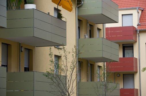 Neue Sozialwohnungen an der Schlossstraße/Ecke Schwabstraße  im Stuttgarter Westen: Solche Bauvorhaben werden immer seltener. Foto: dpa