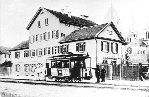 Der Nahverkehr in Stuttgart begann 1868 mit Pferdewagen. Bereits sechs Jahre später gab es die ersten elektrischen Straßenbahnen. Foto: Knupfer/SSB AG