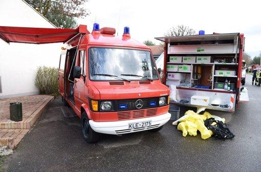 Die Feuerwehr hat nach Giftstoffen auf dem Gelände gesucht. Foto: dpa