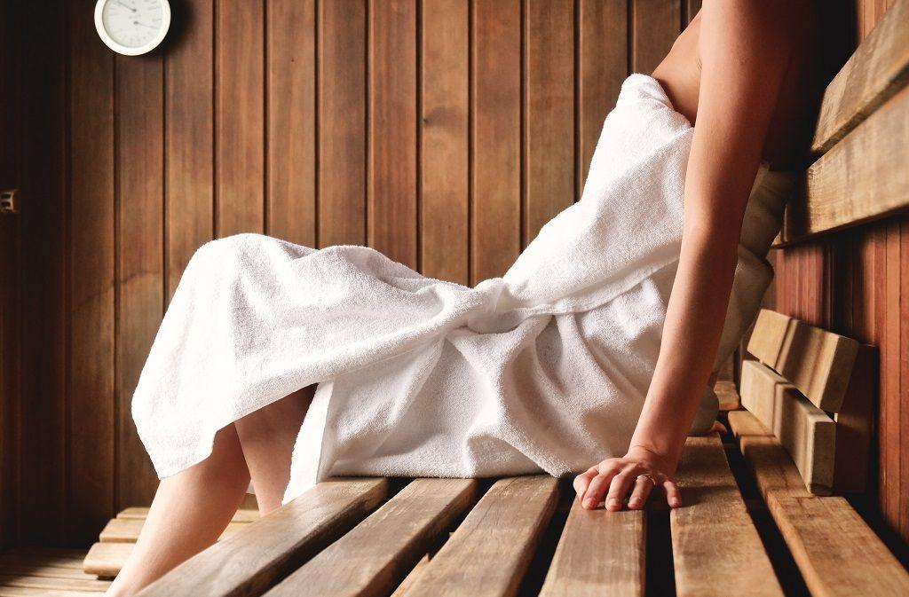 Sauna steifen in der Der Besuch