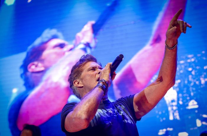 David Hasselhoff in Ludwigsburg: Party im Hoff-Style