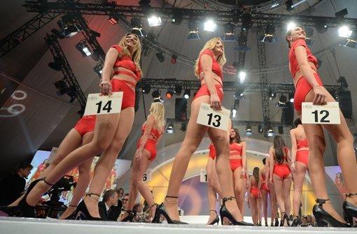Teilnehmerinnen zur Wahl der Miss Germany in Rust. Foto: dpa