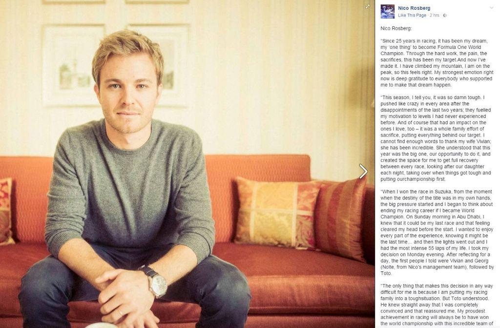 Reaktionen Zu Nico Rosberg Da Fragt Man Sich Wie Viel Druck