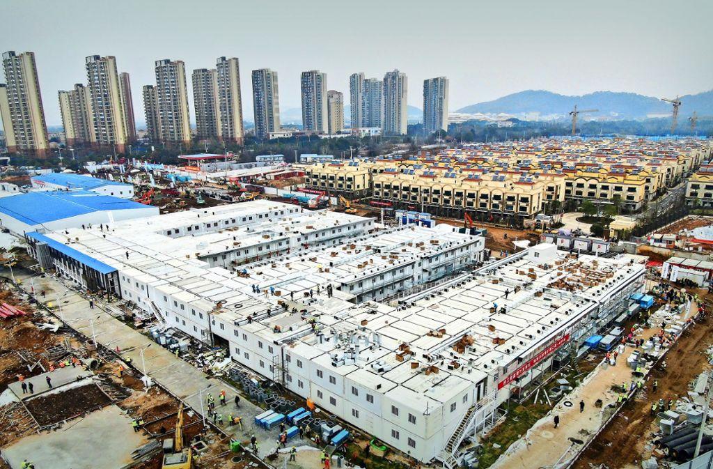 Wuhan Krankenhausbau