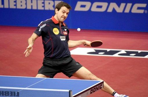 Hofft auf WM-Gold im Doppel: Tischtennis-Star Timo Boll Foto: dpa