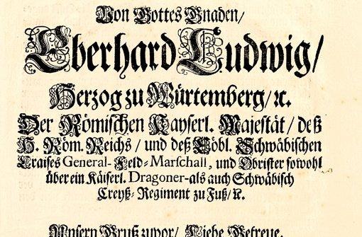 Die Gassensäuberungsordnung von 1714 Foto: Staatsarchiv
