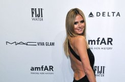 Topmodel-Macherin Heidi Klum bei der Amfar-Gala in New York. Foto: dpa