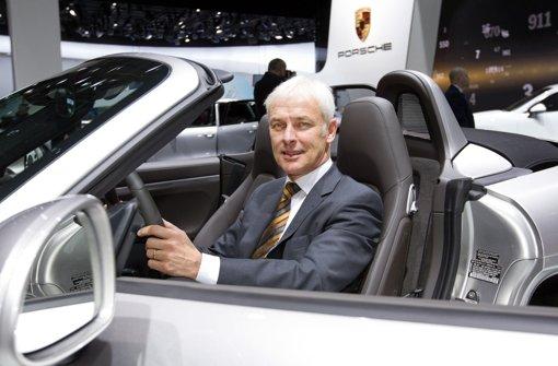 Porsche-Vorstandsvorsitzender Matthias Müller Foto: dpa