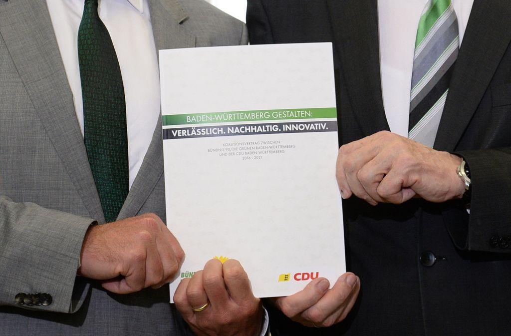 Koalitionsvertrag Baden Württemberg