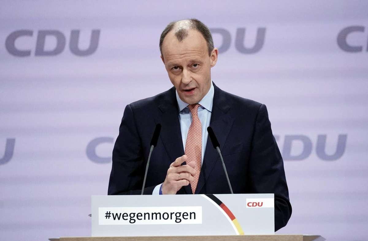 Friedrich Merz wirbt für CDU-Chef Armin Laschet -...