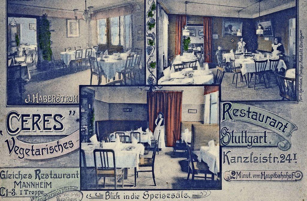 stuttgart album gastronomie fr her restaurant f r vegetarier bereits in den 1920er jahren. Black Bedroom Furniture Sets. Home Design Ideas