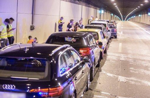 Massenkarambolage im Kappelbergtunnel