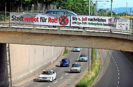 Plakettenarger In Umweltzone In Stuttgart Fahrt In Stadt Sollte