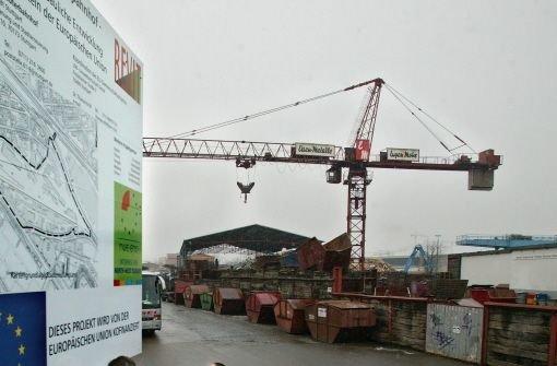 Seit 2001 liegt das Gelände am Cannstatter Güterbahnhof brach Foto: Hörner