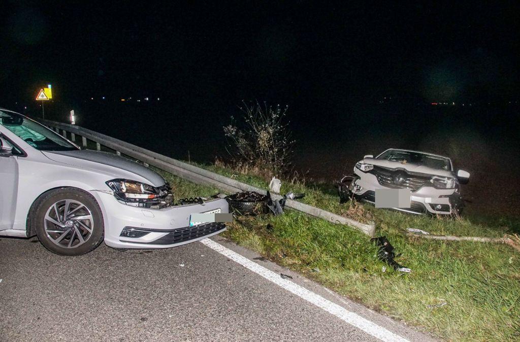 B295 bei Renningen - Autos stoßen frontal zusammen – beide Fahrer verletzt - Stuttgarter Nachrichten