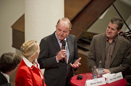 Menno Harms und Peter Scholz beim Forum Bildung der Stuttgarter Nachrichten. Foto: Lichtgut/Max Kovalenko