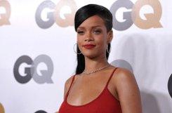 R&B-Sängerin Rihanna setzte bei der Party in Los Angeles auf Rot. Foto: AP
