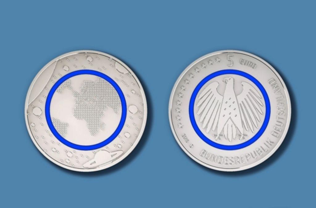 Fünf Euro Sammlermünze Ein Blauer Ring Schützt Vor Fälschungen