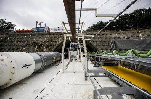 Die Bauarbeiten für Stuttgart 21 laufen, wie hier am Fildertunnel Foto: Leif Piechowski