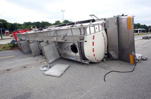 Klebriger Unfall auf der A7