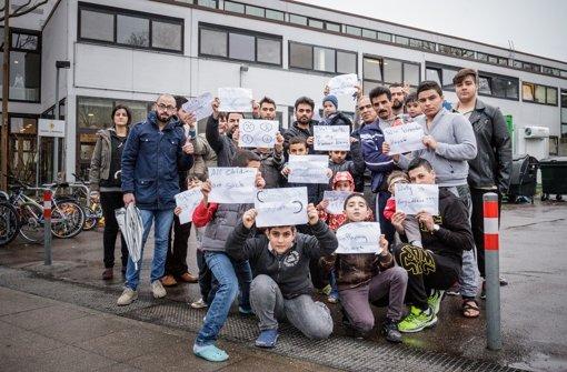 Flüchtlinge in Stuttgart treten in Hungerstreik