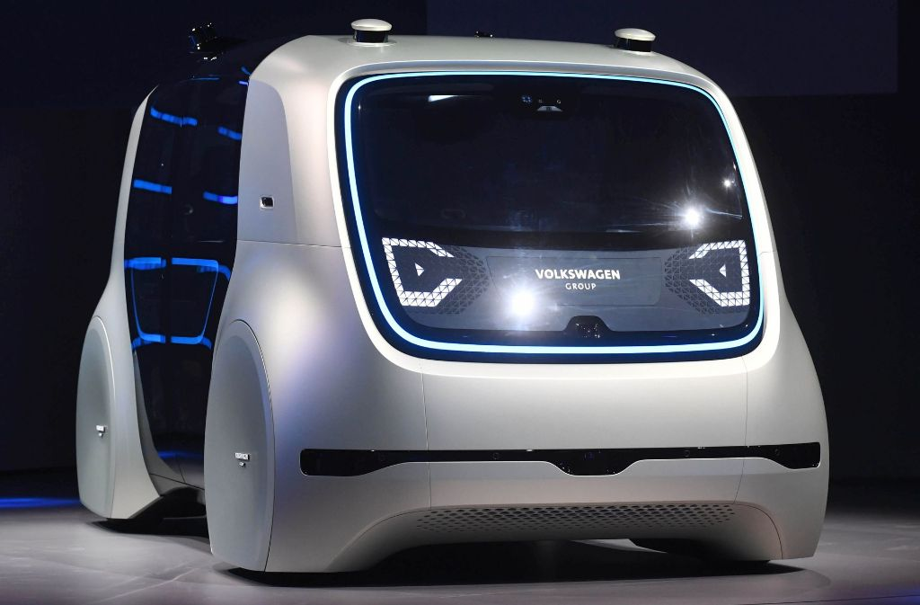 volkswagen sedric erster prototyp des selbstfahrenden. Black Bedroom Furniture Sets. Home Design Ideas